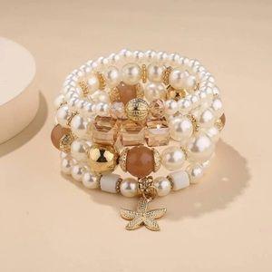 🆕 Starfish Charm Beaded Bracelet Bundle